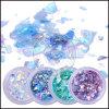 Fiocchi frantumati olografici di vetro del chiodo di scintillio della stagnola del Mermi-Cereale acrilico del documento