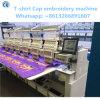 12 Nadeln 6 Köpfe computerisierten Stickerei-Maschine für Schutzkappe, T-Shirt, fertige Kleid-Stickerei
