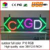 Visualizzazione programmabile esterna di informazioni di rotolamento del USB della visualizzazione di LED di colore completo di pollice di P10 38X12.6 LED