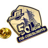 Pin de encargo de la solapa del metal del oro de la industria de Rusia