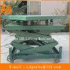 Elevador hidráulico de tijera de almacén con mesa de rotación