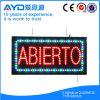 Muestra de interior de España Abierto LED del rectángulo de Hidly