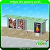 Refugio Yeroo Publicidad Empresa 304 estación de autobuses de acero inoxidable