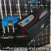 格子太陽系1kw太陽3000Wインバーターか充電器50AMP 464を離れてああ5.5 KWH電池バンク