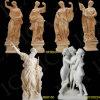 Statua di marmo, scultura di marmo del giardino, scultura di pietra, statua di pietra del giardino