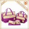 5PCS em 1 Set Luxry Ployester Wholesale Baby Diaper Bag Mixed Order Accepted