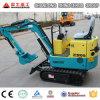 ゴム製トラッククローラー掘削機の小型掘削機0.8tのヨーロッパの販売のための1.5t安い農場の掘る機械