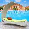 Кровать T529 Sun Lounger/ротанга Sun Wicker/ротанга стула Lounger плавательного бассеина пляжа напольная