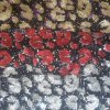 Polyester FDY Foile Print Embroidery avec 3mm Sequin