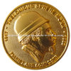 moneda del chapado en oro 3D