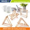 Artigos de papelaria recarregáveis da lâmpada de mesa do diodo emissor de luz do projeto 2016 elegante novo