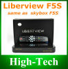 O Original o mais novo Libertview F5s Satellite Receiver Software Download 1080P Receiver Support GPRS Libertview F5s Same com Skybox F5s