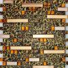 Leopard-Print linear metálica mosaico de vidro laminado