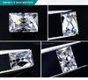 공장 최고 가격 5*7 mm 1 CT 프랑스어는 1개의 백색 Moissanite 다이아몬드 도매를 영구히 잘랐다