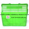 Panier à provisions en plastique avec le traitement pour le supermarché