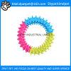 Runde Form mit vier Spielzeug der Farben-TPR für Hundedas kauen