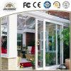 Porte coulissante des prix d'usine de coût bas de la fibre de verre UPVC de bâti en plastique bon marché de profil avec des intérieurs de gril à vendre