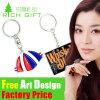 Keyring сувенира OEM Metal/PVC/Leather изготовленный на заказ Малайзии