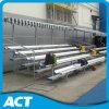 banco portable del metal del blanqueador de aluminio de la gimnasia 5-Row con el pabellón retractable