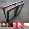 Cor de madeira perfil UPVC Windows com inclinação e gire a abertura