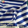 Tela teñida hilado de Jersey de la raya del Spandex del algodón para la materia textil de la ropa de la camiseta (GLLML268)