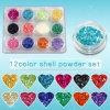 12colour Glitter Crushed Shell Dust Powder Set Nail Art