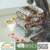 動物パターンプリント珊瑚の羊毛毛布