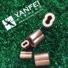 Funda oval del nuevo metal de cobre amarillo del estilo y virola de 8 dimensiones de una variable