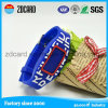 Wristbands enchidos tinta do silicone da amostra livre de Debossed