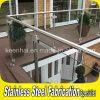 Traliewerk van het Glas van het Balkon van de Trede van het Roestvrij staal van Customed het Binnen