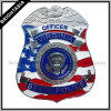 Insignia de alfiler de metal de calidad para la Policía Americana (BYH-10432)