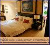 인도 Fushion 알루미늄 Yd0307 상업적인 현대 호텔 가구 단단한 나무 직물 검정 호화스러운 침실 가구 세트