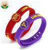 Wristband variopinto su ordinazione poco costoso del silicone con il marchio