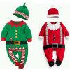 유아 아기 아이 크리스마스 놓이는 긴 소매 장난꾸러기 낙하산 강하복 Playsuit 차림새