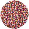 De kleurrijke Gevoelde Gevoelde Ballen van Kerstmis van de Bal van de Decoratie Ornamenten