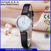 Montre-bracelet de courroie en cuir de mode de dames de quartz d'ODM (Wy-133B)
