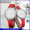 Kundenspezifischer Firmenzeichen-Uhr-lederne Brücke-Quarz verbindet Armbanduhren (Wy-088GD)