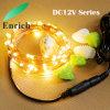 DC12V Zeichenkette-Licht des kupfernen Draht-LED mit Adapter für Weihnachtsdekoration