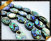 Шарики раковины Abalone плоские овальные, ювелирные изделия раковины (APS020)