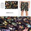 O projeto floral imprimiu a tela ocasional escovada do vestuário da tela dos Shorts da praia