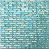 青い大理石のガラスモザイク