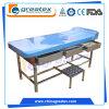 Meubles d'hôpital Table de massage Divan-salle d'examen médical avec oreiller (GT-EXC03)