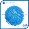 TPR federnd sich hin- und herbewegende Zähne, die stachelige Kugel-quietschendes Spielzeug für Hunde säubern