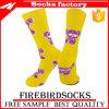 La élite hecha atlética hecha punto del baloncesto de la insignia se divierte calcetines calcetín de encargo de la insignia