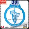 Медаль спорта хорошего качества подгонянное голубое с закручивать