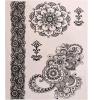 Стикер Tattoo волос с стикером Tattoo искусствоа картины цветка