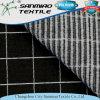 Tela feita malha de confeção de malhas verific preto da sarja de Nimes do Spandex da tela de estiramento de 4 maneiras para calças de brim