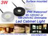 3W imprägniern Mini-LED Schrank-Licht IP65 Oberfläche eingehangene Dimmable PFEILER LED Lampe für Schaukasten