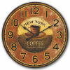 コーヒーが付いている29cm型MDFの柱時計