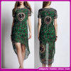 2015 modisches Chiffon- Printing Knitting Fabric Short Sleeve Party Dress für Woman (C-177)